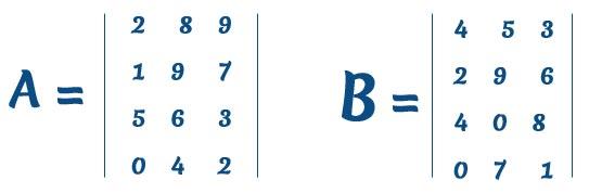 due matrici calcolo