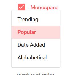 tipi di font