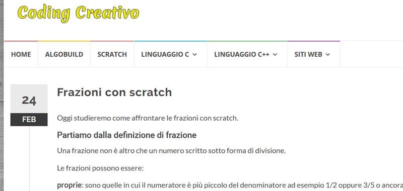 frazioni con scratch