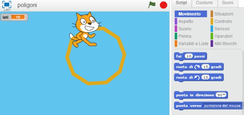 disegnare poligoni in scratch