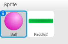 sprite ball e paddle