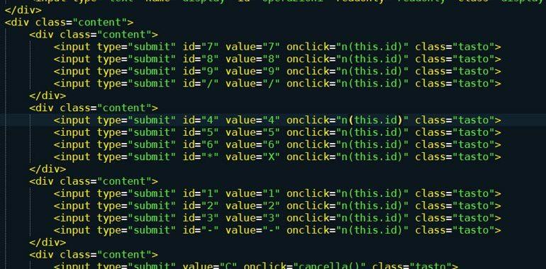 calcolatrice javascript