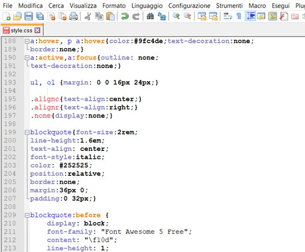 css con notepad
