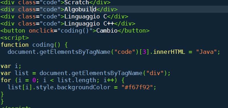 Dom In Javascript Oggetto Document E Metodi Per Selezionare
