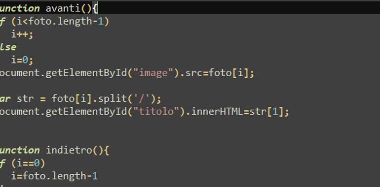 Galleria di immagini con JavaScript