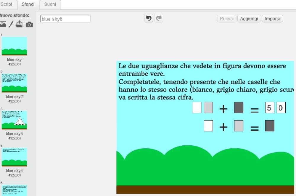 gioco matematico uguaglianze