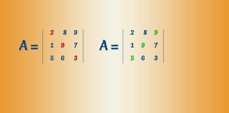 diagonale matrice quadrata