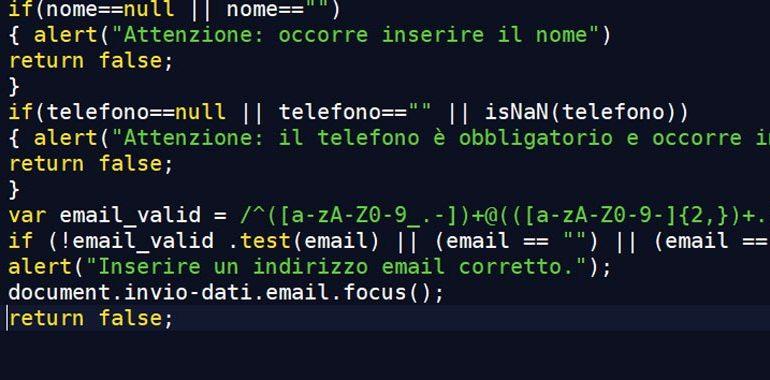 validare form javascript