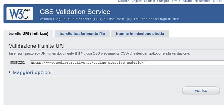 W3C validator CSS