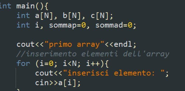 esercitazione sugli array in C++