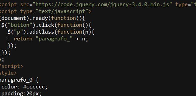 jQuery addClass()