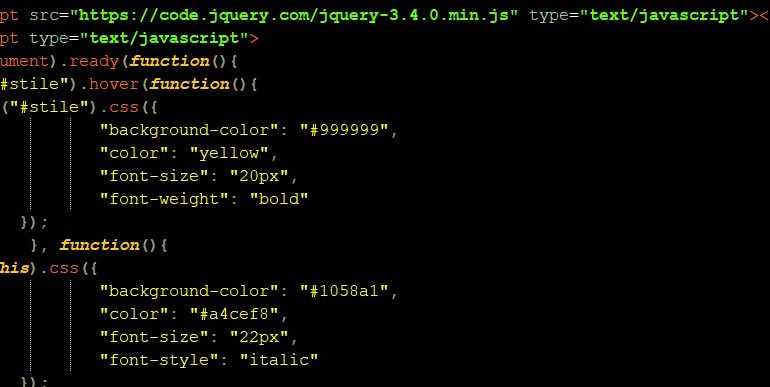 jQuery hover()