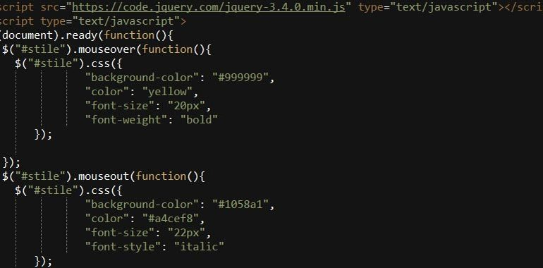 jquery mouseover()