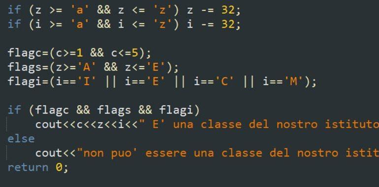 operatori logici linguaggio C++