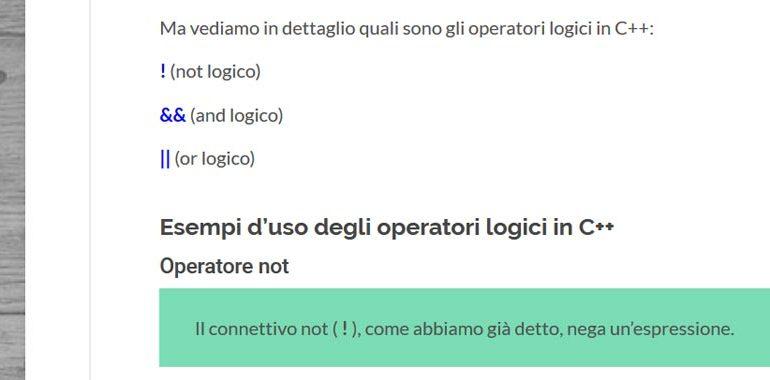 operatori logici in C++