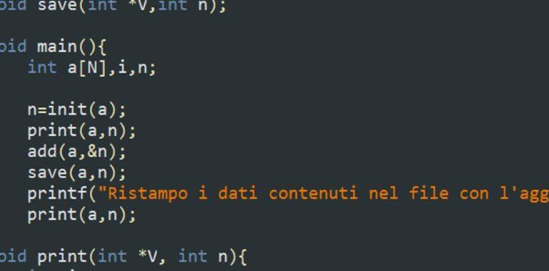 Esercizi sui file in C