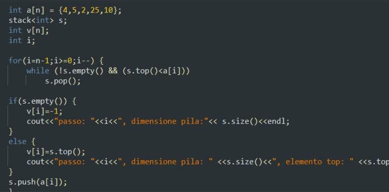 Vettori in C++