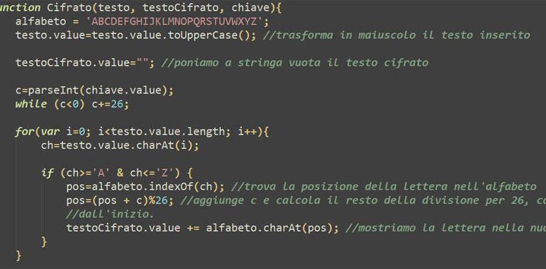cifrario di Cesare online
