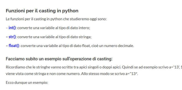 casting python