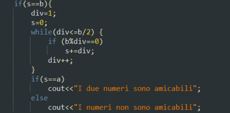 Numeri amicabili in C++