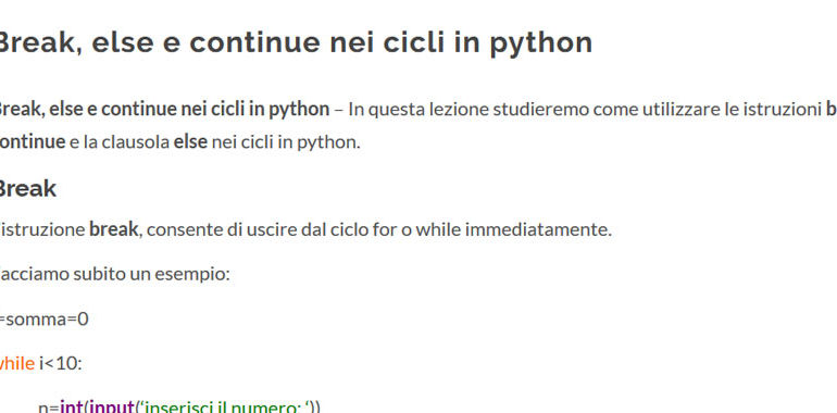 break else continue in python