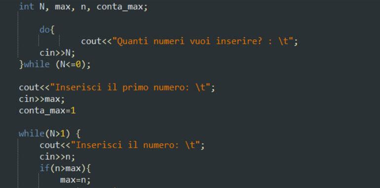 Trovare il maggiore e quante volte ricorre in C++
