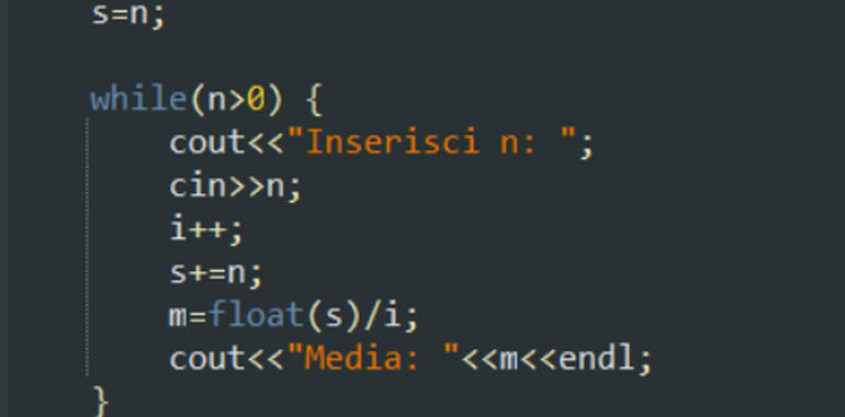 Esempi con while in C++