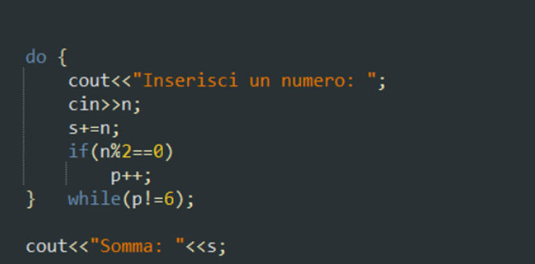 Esercizi sul ciclo do-while in C++
