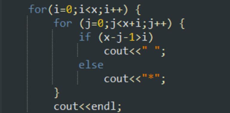 cicli for annidati c++