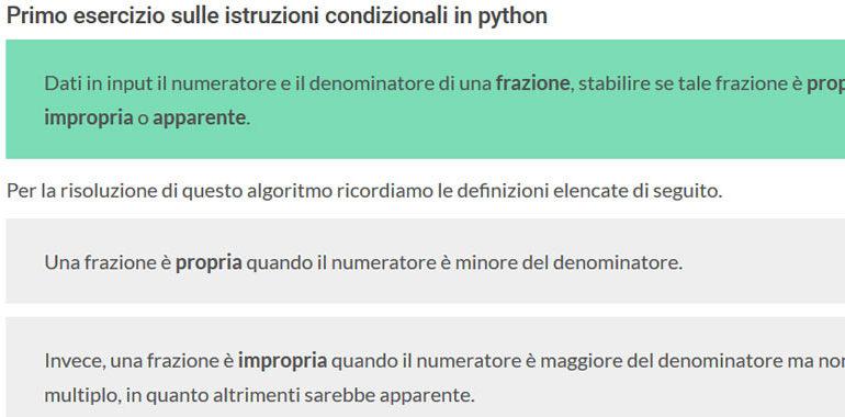istruzioni codizionali in python