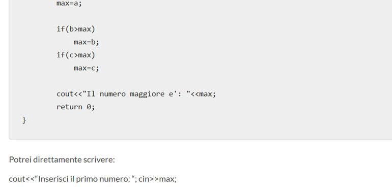 massimo fra tre numeri in C++
