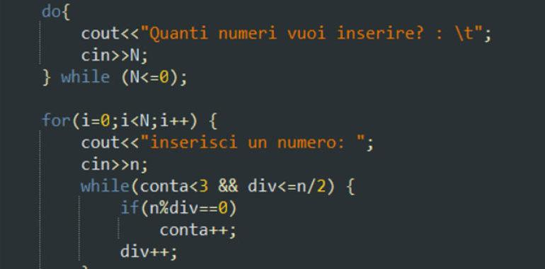 numeri primi in C++