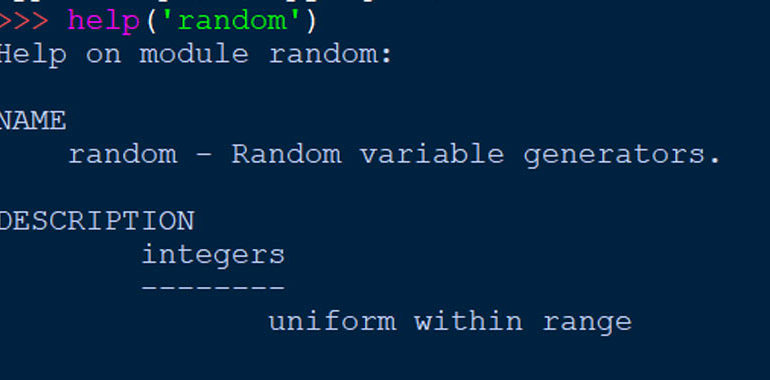 numeri random in python