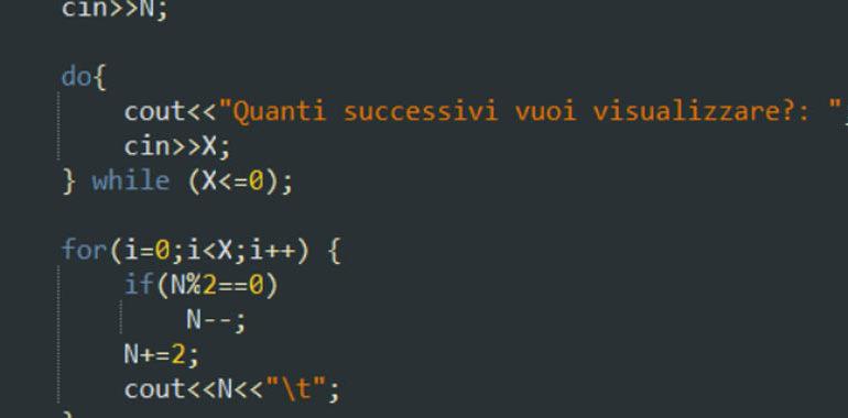 Esercitazione sul for in C++
