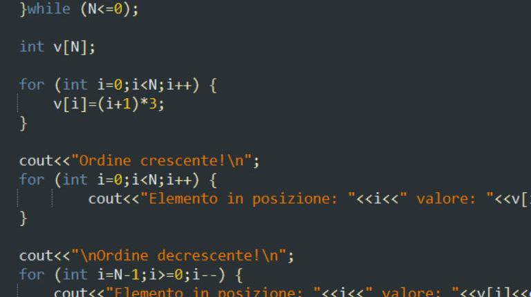 Esercizio sui vettori in C++