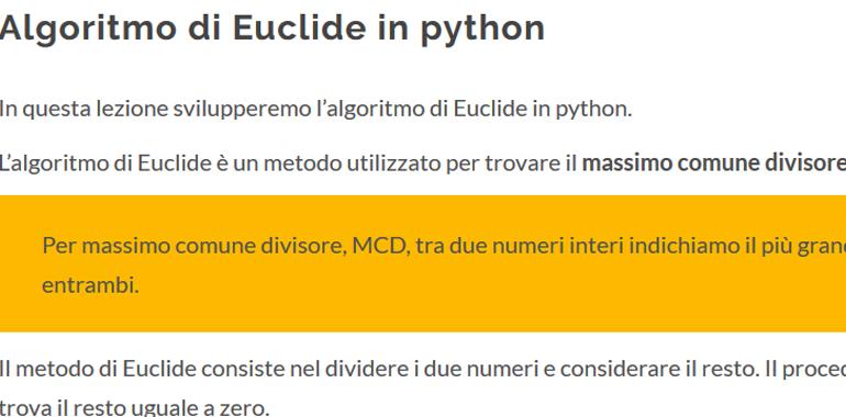 Algoritmo Euclideo