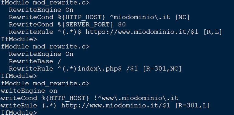 URL rewrite