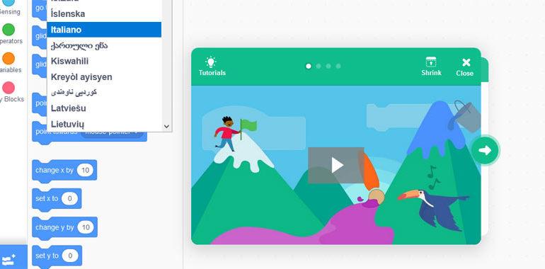 Scratch 3 online e download