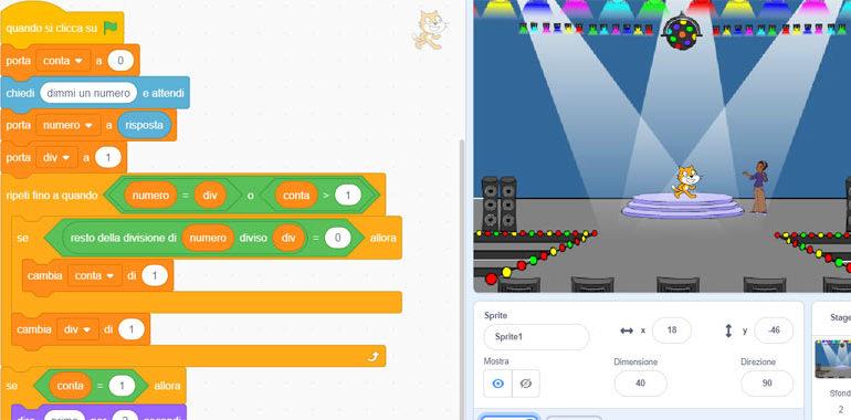 Trovare un numero primo con Scratch