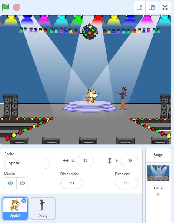 sfondo numero primo con Scratch