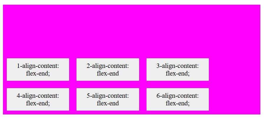 align content css