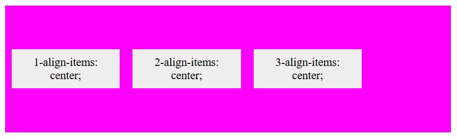align-items center