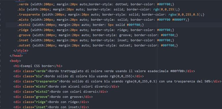 Border color CSS
