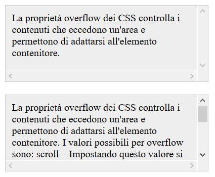 overflow scroll