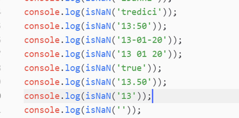 isNaN JavaScript
