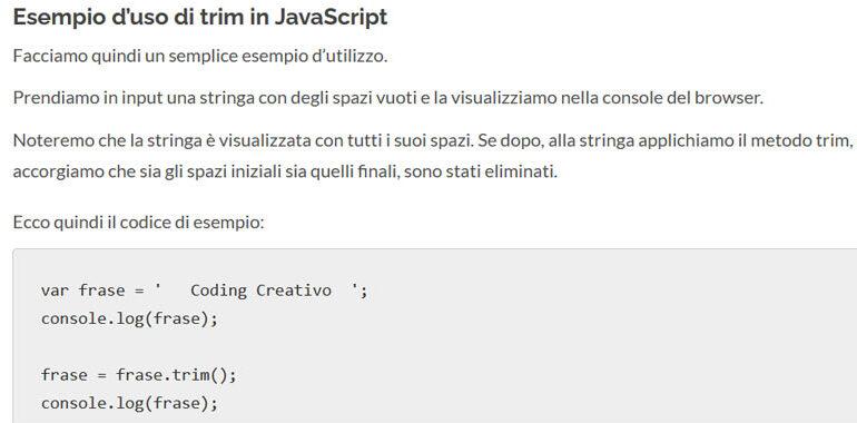 trim JavaScript