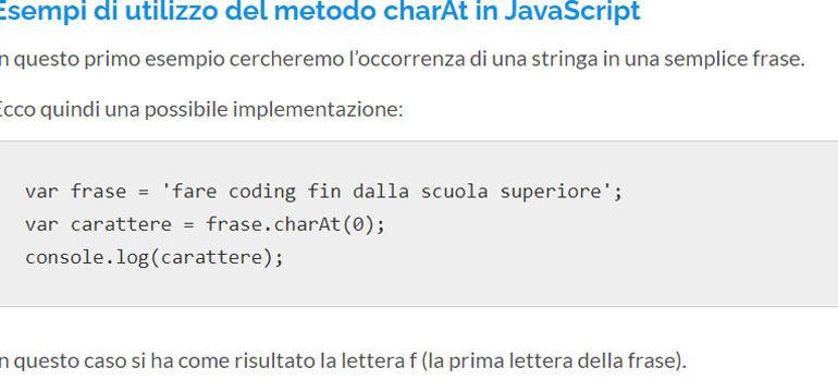 charAt JavaScript