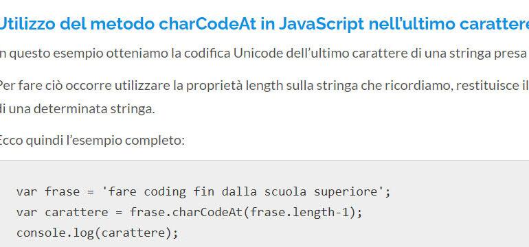 charCodeAt JavaScript