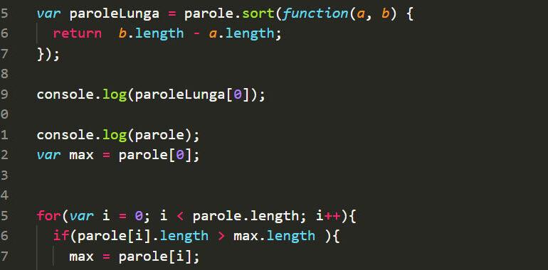 Parola più lunga in JavaScript